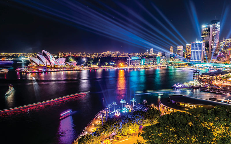 Vivid Sydney Lights Up the City