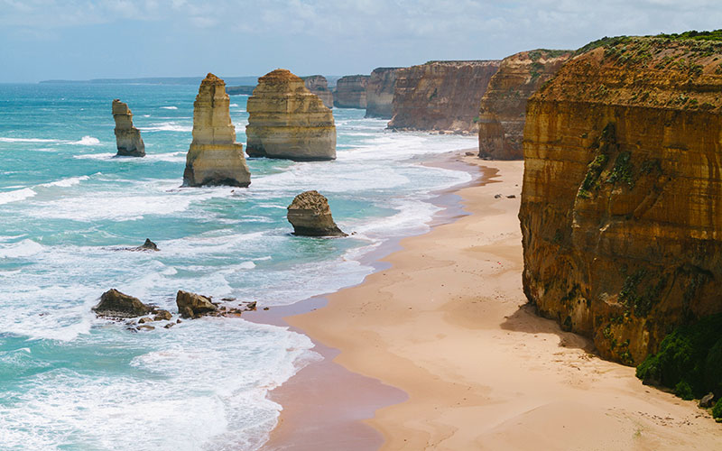 Twelve Apostles on the Great Ocean Road, Melbourne Australia