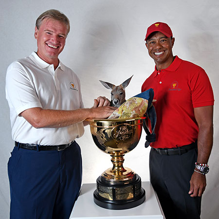 Tiger Woods and Ernie Els - 2019 Presidents Cup in Melbourne, Australia