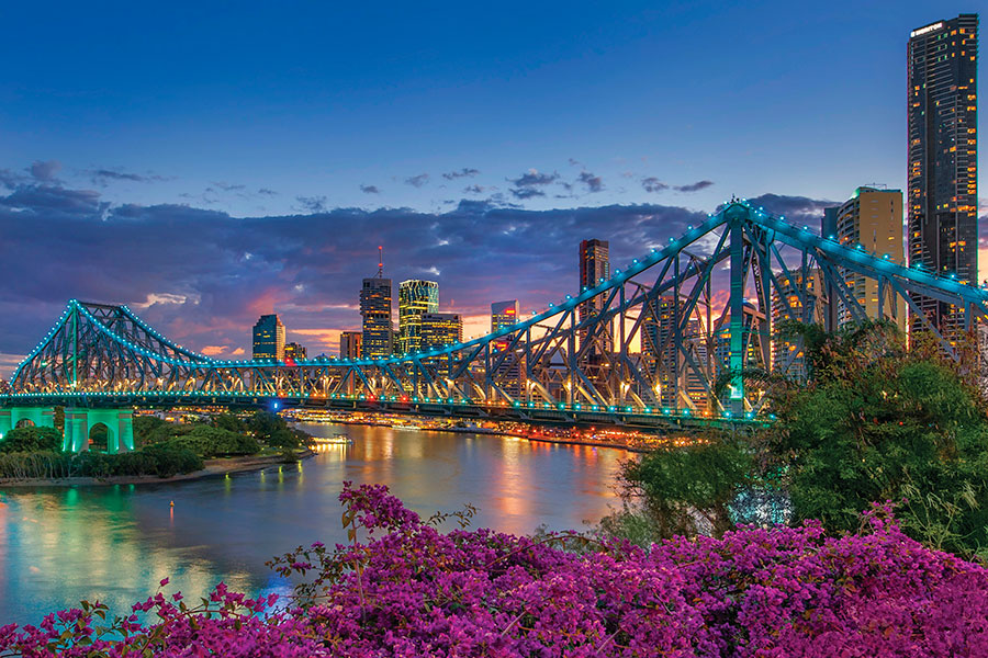 Brisbane, Australia - Story Bridge at Night