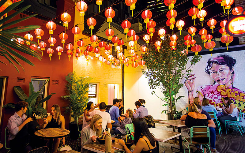 Dining in Spice Alley, Sydney