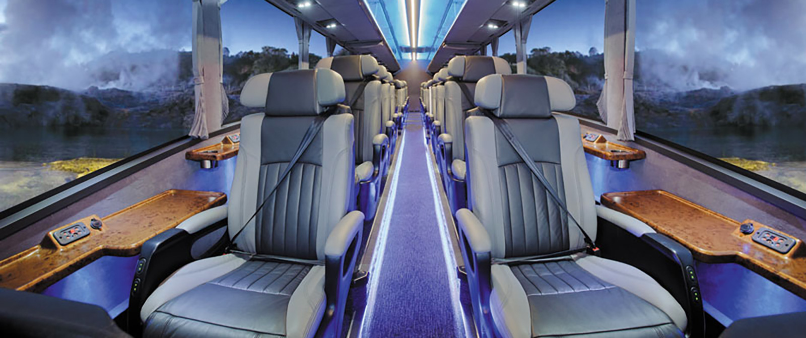 Interior of Grand Pacific Tours' Ultimate Small Group Luxury Coach