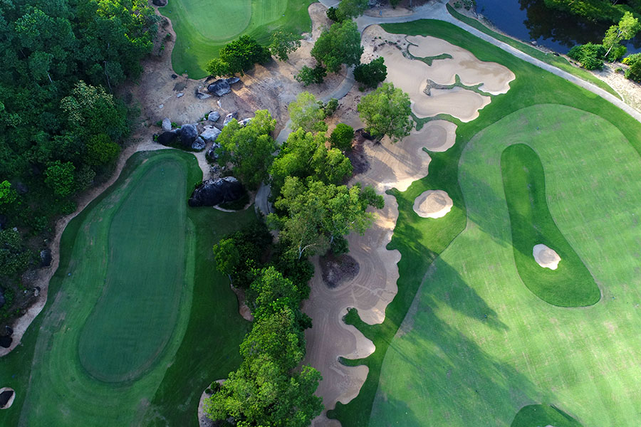 Laguna Lang Co golf course in Vietnam - aerial view
