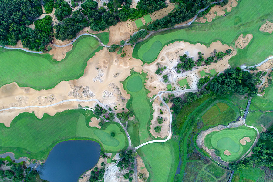 Laguna Lang Co golf course from above - Vietnam golf vacations