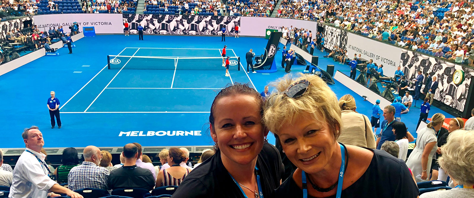 Corinne and Rayoni in Melbourne at the Australian Open Tennis 2019